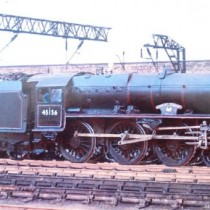 LMS Black 5 - untouched model superimposed over real background at Crewe £805